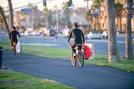 riding bicycle is good for the environment