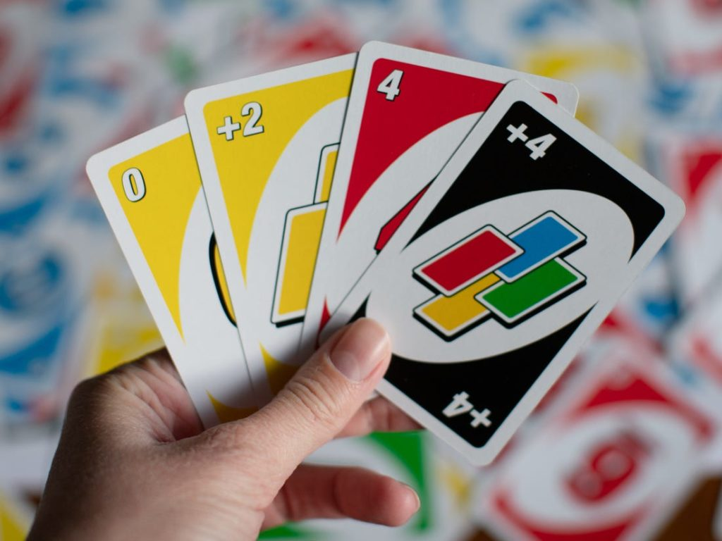 UNO cards with different values